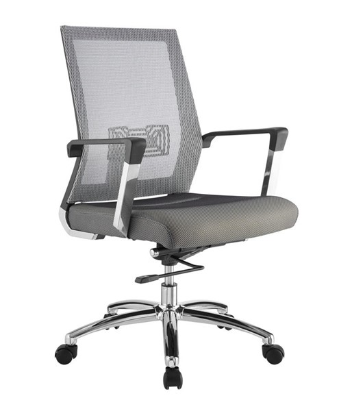 Casabianca Home Jet Light Gray Polyester Mesh and Black Frame Office Chair CASA-CB-O116-G