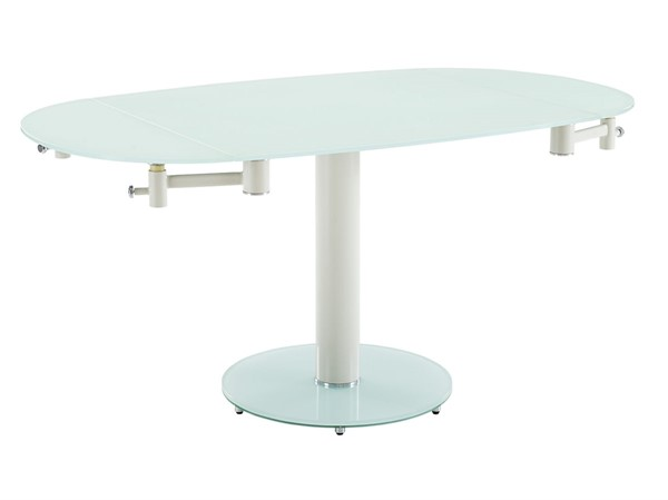 Casabianca Home Thao Matte White Glass Dining Table CASA-CB-T030-WH