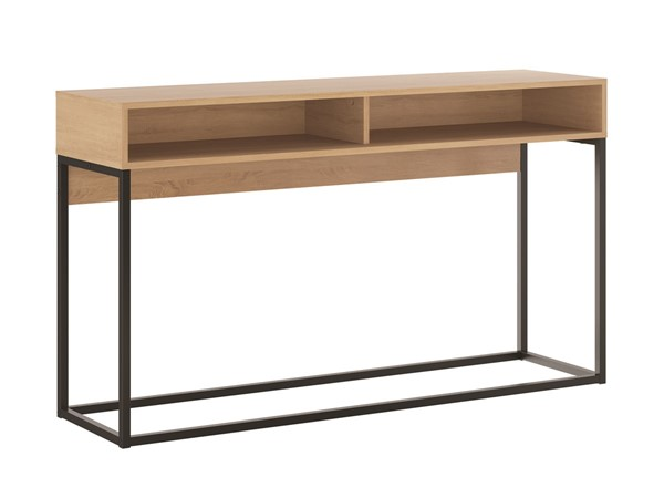 Casabianca Home Noa Melamine and Black Painted Metal Console Tables CASA-KD-B130-ST-VAR