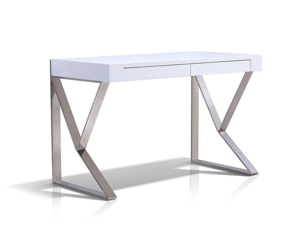 Casabianca York Modern White MDF 2 Drawers Office Desk CASA-TC-0098-WH