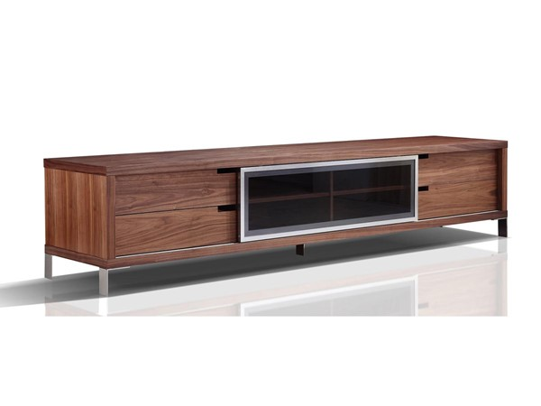 Casabianca Duke Modern Walnut MDF Entertainment Center CASA-TC-0135-WAL