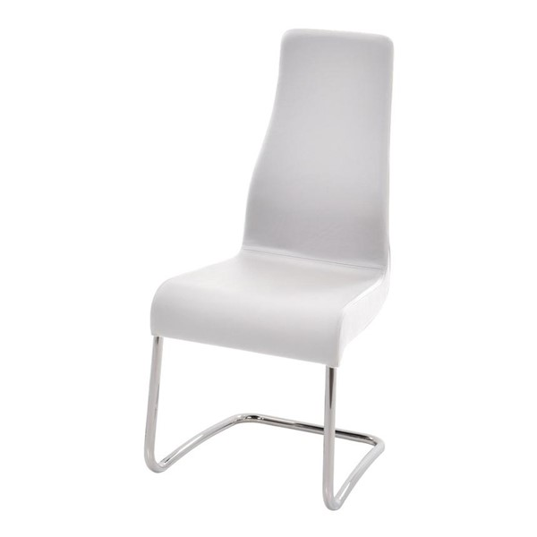 2 Casabianca Florence Italian White Leather Dining Chairs CASA-TC-2004-WH