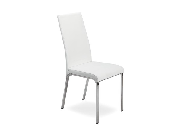2 Casabianca Loto Modern Italian White Armless Dining Chairs CASA-TC-2007-WH
