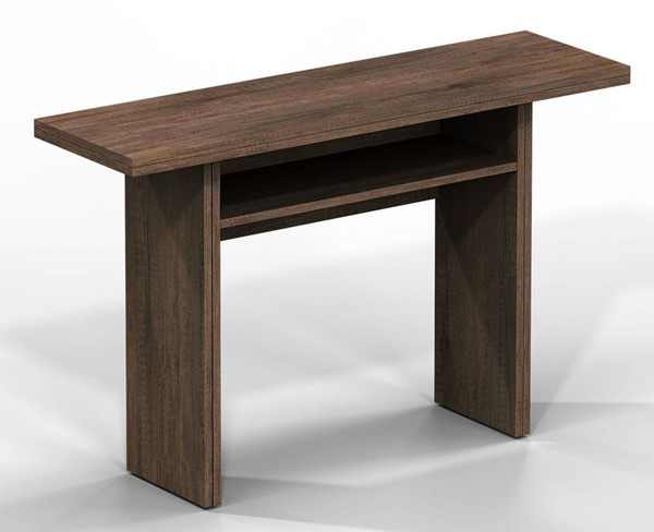 Casabianca Home Ritz Dark Oak Wood Grain Melamine Console Table CASA-TC-530-DO