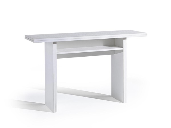 Casabianca Ritz White Melamine Extendable Dining Table CASA-TC-530-WH