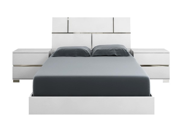 Casabianca Pisa Modern White MDF King Bed CASA-TC-9002-KW