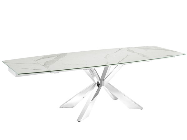 Casabianca Home Icon White Marbled Dining Table CASA-TC-MAN01MAR