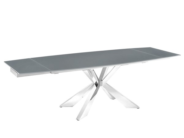 Casabianca Home Icon Gray Glass Motorized Dining Table CASA-TC-MT01GRY