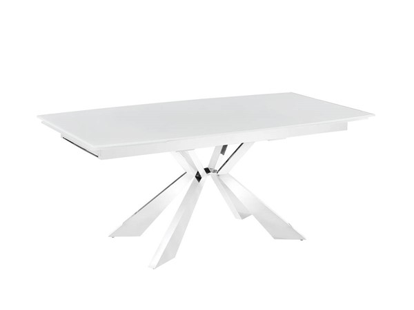 Casabianca Home Icon White Extendable Dining Table CASA-TC-MT01