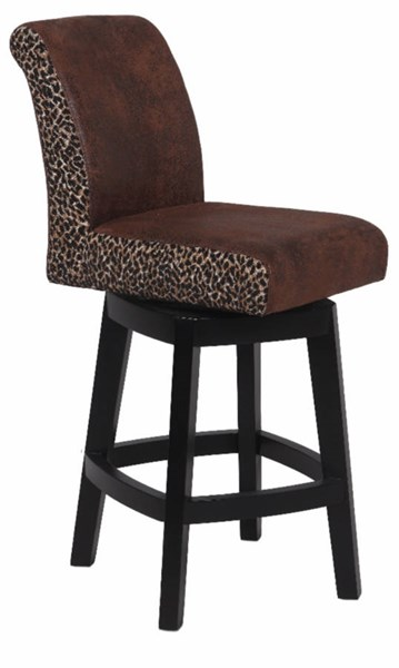 Black Brown Wood 30 Inch Swivel Solid Birch Bar Stool CHF-0289-BS