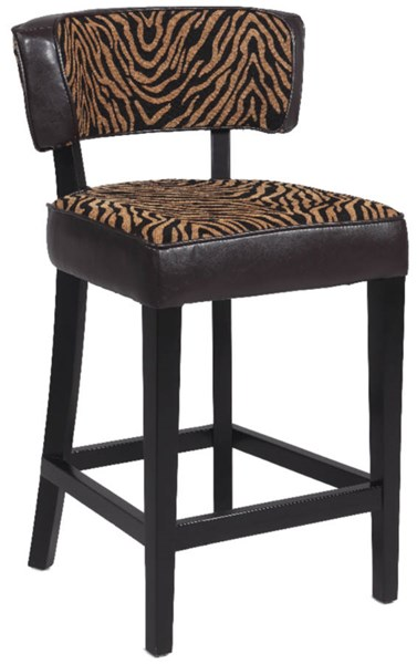 Black Wood 30 Inch Stationary Solid Birch Counter Stool CHF-0296-CS