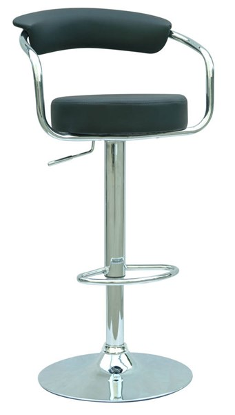 Modern Black PVC Pneumatic Gas Lift Adjustable Height Swivel Stool CHF-0326-AS-BLK