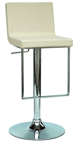 Creme PU Armless Pneumatic Gas Lift Adjustable Height Swivel Stool CHF-0351-AS-CRM