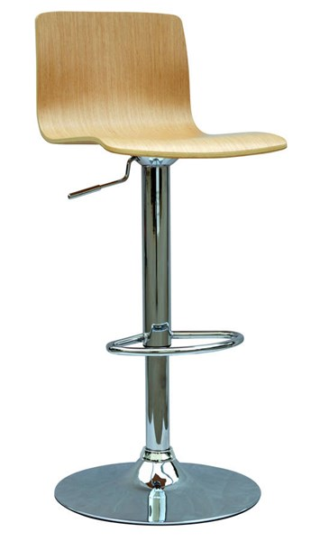White Oak Bent Wood Pneumatic Gas Lift Adjustable Height Swivel Stool CHF-0353-AS