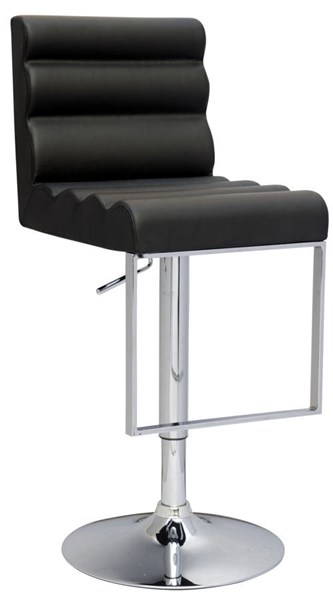 Black PU Pneumatic Gas Lift Swivel Height Stool CHF-0357-AS-BLK