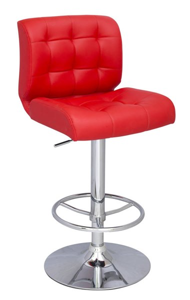 Modern Red PU Stitched Seat & Back Pneumatic Stool CHF-0361-AS-RED