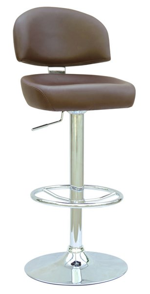 Brown PU Pneumatic Gas Lift Adjustable Height Swivel Stool CHF-0362-AS-BRW