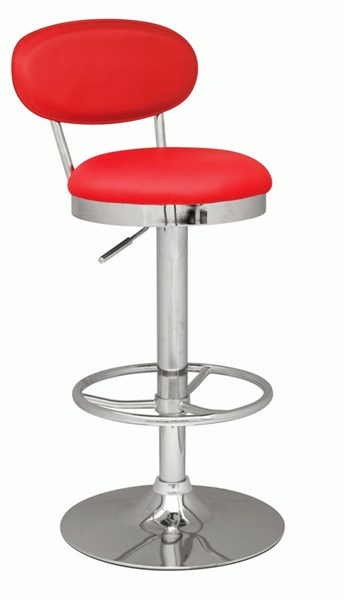 Pneumatic Gas Lift Adjustable Height Swivel Stool 0377-As-Red CHF-0377-AS-RED