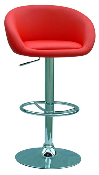 Modern Red PU Pneumatic Gas Lift Adjustable Height Swivel Stool CHF-0380-AS-RED