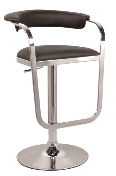 Black PU Pneumatic Gas Lift Adjustable Height Swivel Stool W/arms CHF-0392-AS