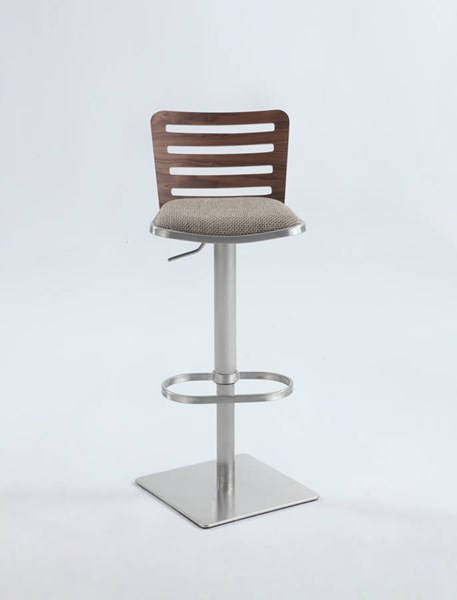 Casual Metal Fabric Pneumatic Gas Lift Adjustable Height Swivel Stool CHF-0514-AS