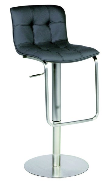 Blakc PU Steel Pneumatic Gas Lift Adjustable Height Swivel Stool CHF-0515-AS