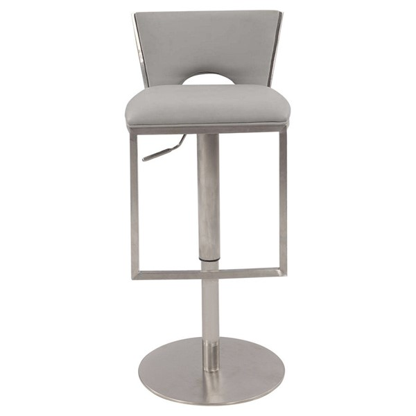 Chintaly Imports Grey Adjustable Height Stool CHF-0516-AS