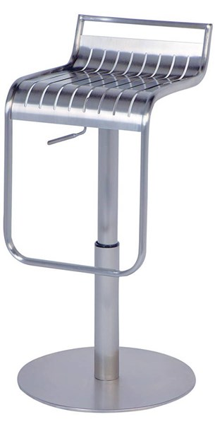 Stainless Steel Pneumatic Gas Lift Adjustable Height Swivel Stool CHF-0539-AS