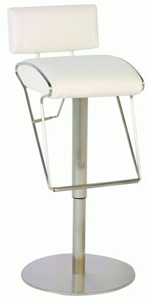 Pneumatic Gas Lift Adjustable Height Swivel Stool 0561-As-Wht CHF-0561-AS-WHT