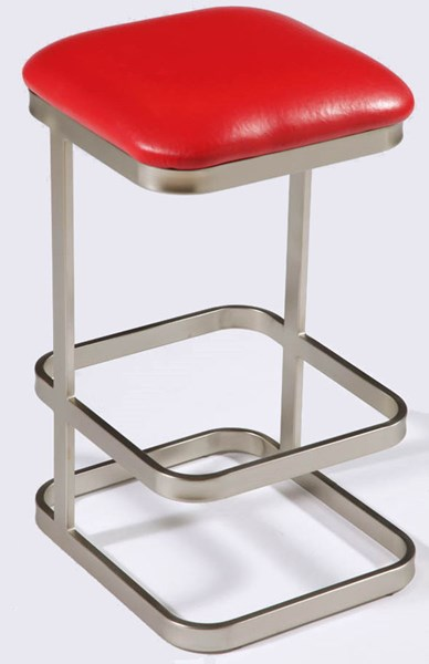 Contemporary Red PVC Foot Rest Counter Stool CHF-0702-CS-RED