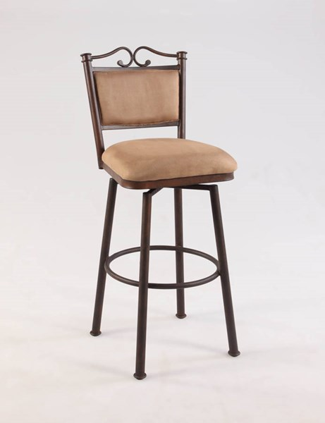 Taupe Suede 30 Inch Memory Return Swivel Bar Stool CHF-0707-BS