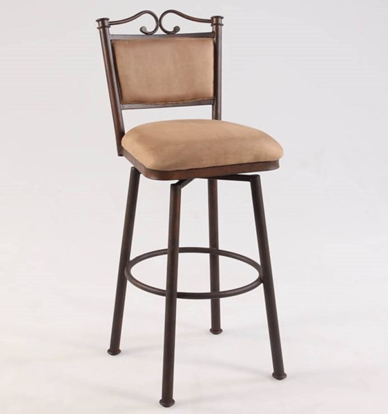 Chintaly Imports Taupe Memory Return 26 Inch Counter Height Stool CHF-0707-CS