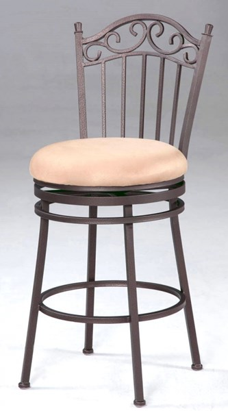 Contemporary Antique Taupe Metal Fabric Folding Counter Stool CHF-0710-CS-FLD
