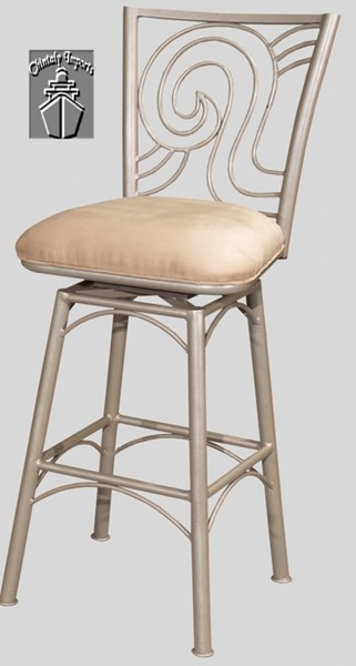 Taupe Suede 30 Inch Armless Memory Return Swivel Bar Stool CHF-0717-BS