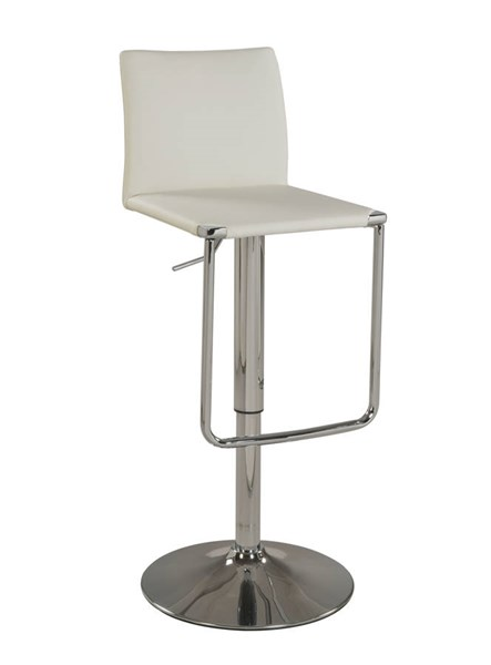 Modern White PU Low Back Pneumatic Stool CHF-0801-AS-WHT