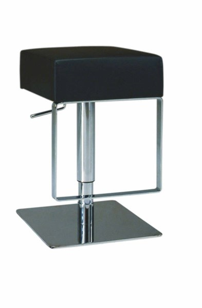 Black PVC Backless Pneumatic Gas Lift Adjustable Height Swivel Stool CHF-0811-AS-BLK