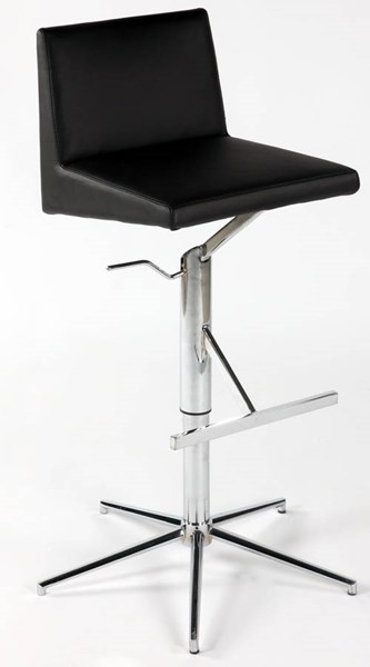 Modern Black PU Pneumatic Gas Lift Height Stool CHF-0838-AS