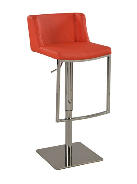 Modern Red PU Contemporary Pneumatic Stool CHF-0886-AS-RED