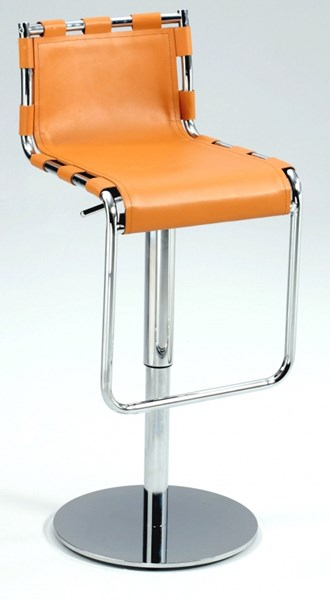 Modern Strap Back Pneumatic Gas Lift Adjustable Height Swivel Stool CHF-0963-AS-CML