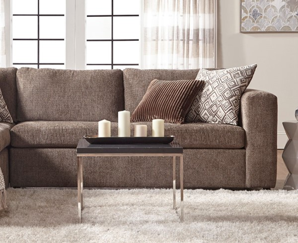 Chintaly Imports Beige Fabric RIGHT Facing Sofa CHF-1100-RFSF-BGE