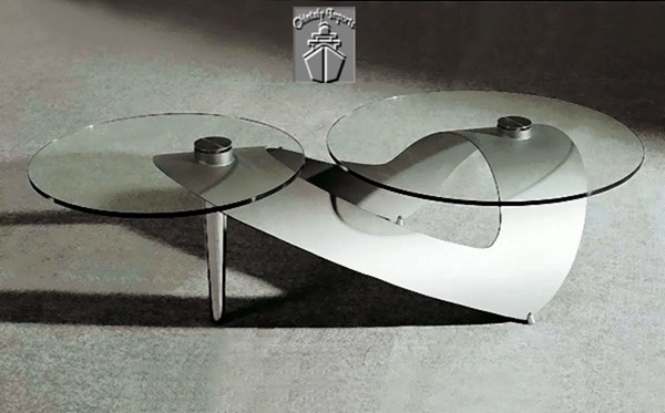 Clear Tempered Glass Art Deco Cocktail Table Top CHF-1124-CT-T