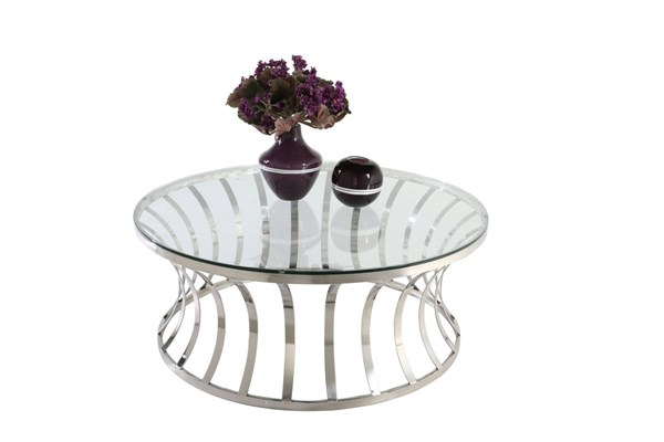 Modern Stainless Steel Glass Cocktail Table CHF-1156-CT-TB