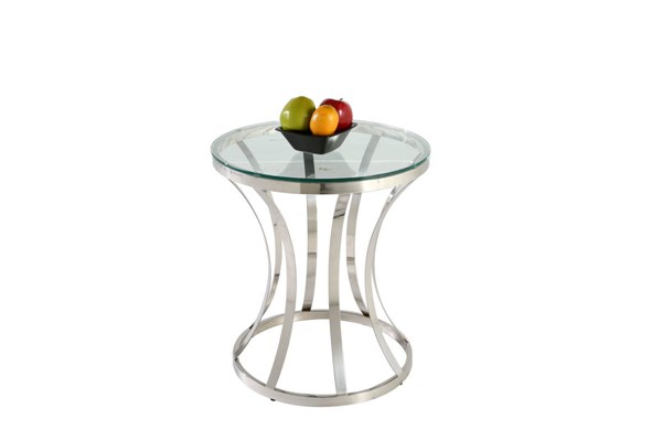 Modern Stainless Steel Glass Double Ring Lamp Table CHF-1156-LT-TB