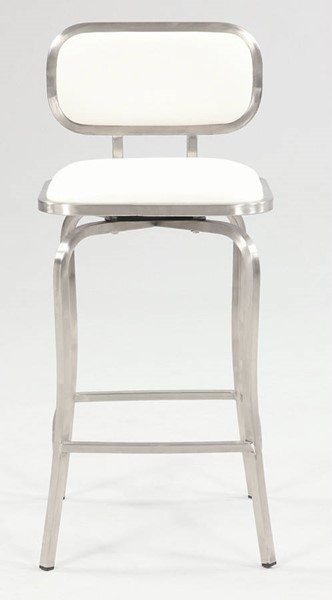 Chintaly Imports White Steel Swivel Counter Height Stool CHF-1192-CS-WHT