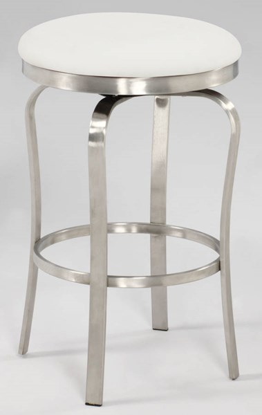Modern PU Brushed Stainless Steel Backless Stools CHF-1193-CS-BS-VAR