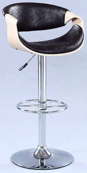 Chintaly Imports Dark Brown Pneumatic Adjustable Stool CHF-1396-AS-BLK