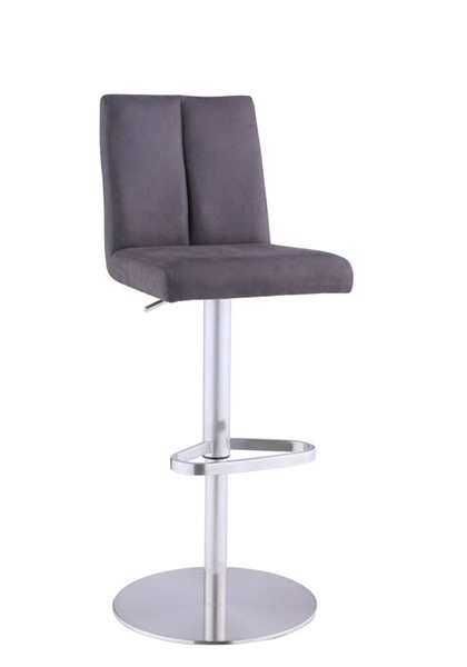 Chintaly Imports Brushed Brown Back Adjustable Stool CHF-1713-AS-BRW