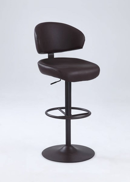 Contemporary Antique Brown PU Oversized Pneumatic Stool CHF-1874-AS-BRW