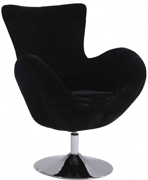Modern Black Red Velvet Modern Swivel Arm Fun Chairs CHF-2001-ACC-VAR
