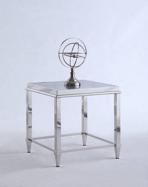 Chintaly Imports Grey Lamp Table CHF-2035-LT